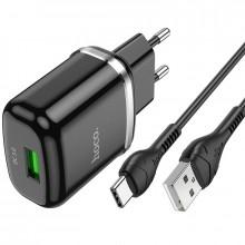 """Набор зарядного устройства с кабелем Cutting-edge"""" EU QC3.0 с одним USB портом (N3)"""