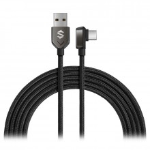 Black Shark Right-angle USB-C to USB-A Cable